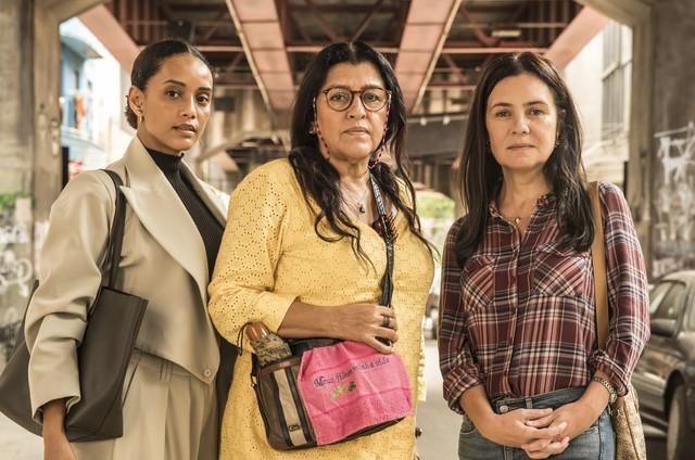 'Amor de mãe': Taís Araujo, Regina Casé e Adriana Esteves são Vitória, Lurdes e Thema (Foto: João Cotta/TV Globo)
