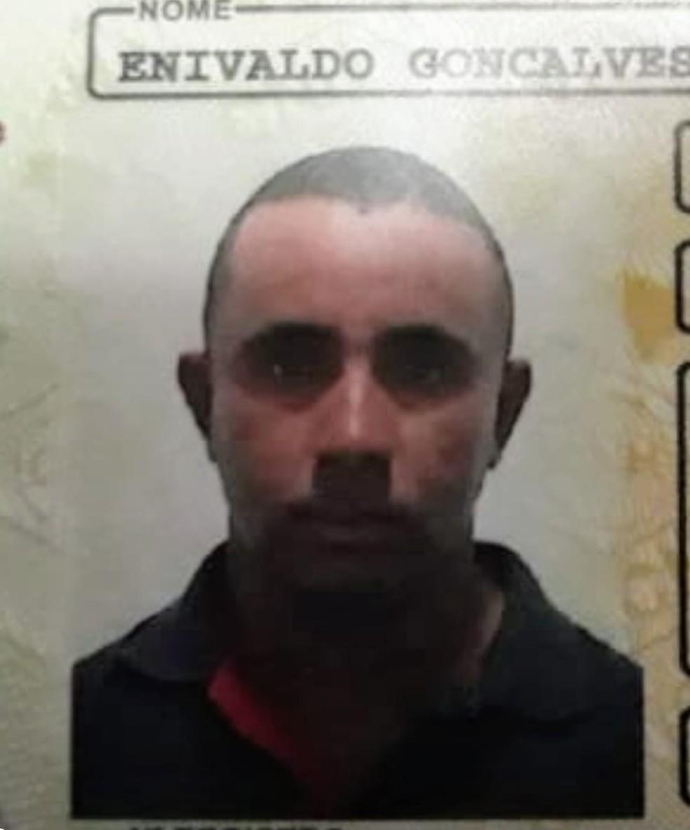 Enivaldo Gonçalves Duarte, de 33 anos, foi morto a tiros em fazenda — Foto: Divulgação