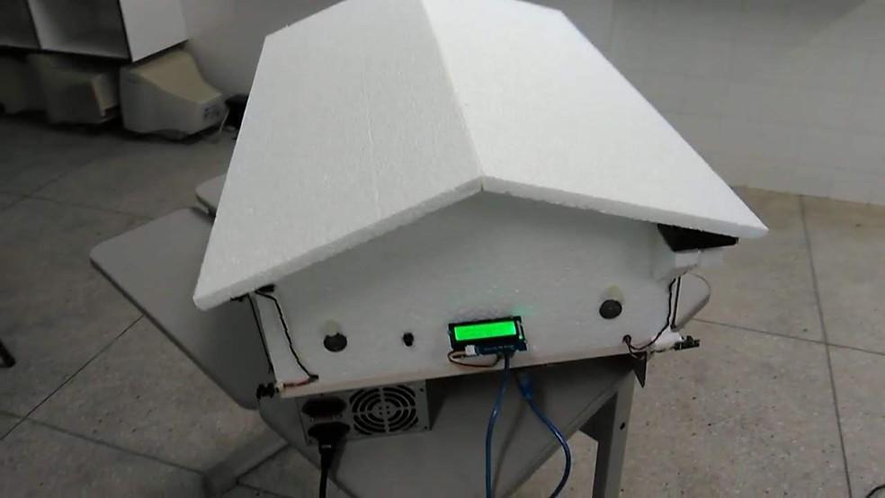 Protótipo do aviário automatizado — Foto: Arquivo pessoal