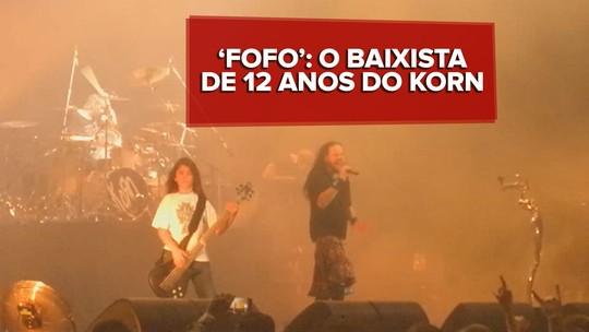 Tye Trujillo, baixista de 12 anos, é aprovado por fãs do Korn após show em SP, VÍDEO