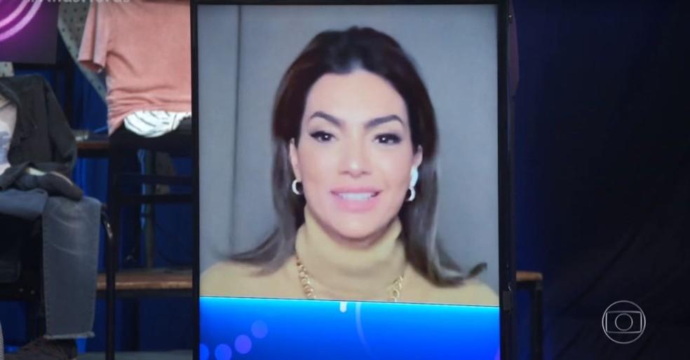 Kelly Key participou remotamente do 'Altas Horas', direto de Portugal — Foto: TV Globo