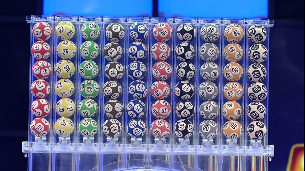 Números disponíves para as apostas da Mega da Virada — Foto: Reprodução/TV Globo