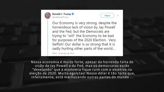Trump pressiona Banco Central americano por receio de recessão