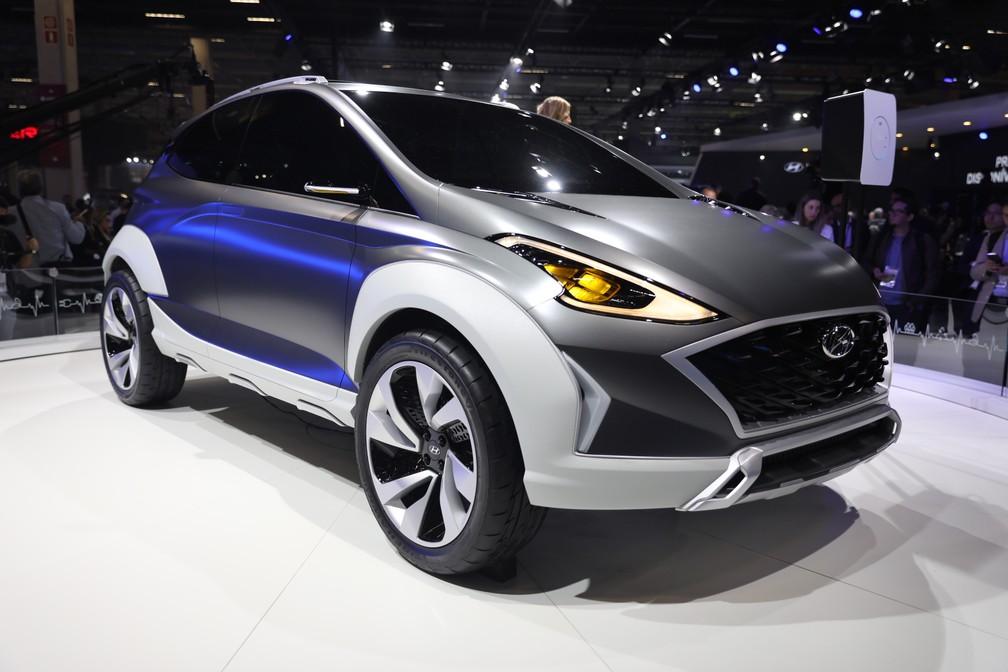 Hyundai Saga EV é apresentado no Salão do Automóvel 2018 — Foto: Fábio Tito/G1