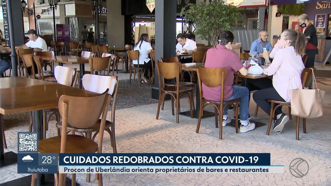 Procon pede mais rigidez às regras de funcionamento de bares e restaurantes em Uberlândia durante pandemia