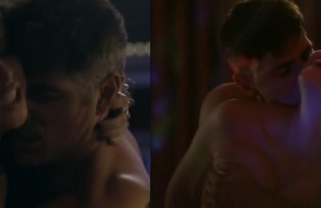 Agatha Moreira (Giovana) e Reynaldo Gianecchini (Anthony) tiveram um romance tórrido na trama (Foto: Reprodução)