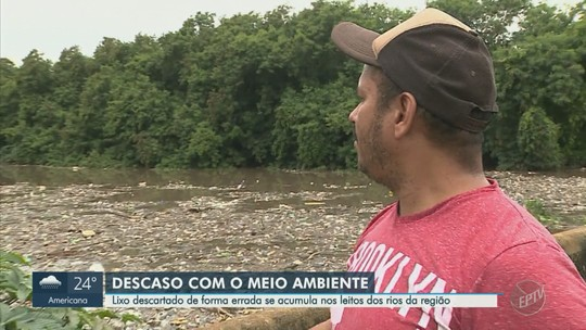 Lixo acumulado polui rios da região e causa mortandade de peixes em Americana e Monte Mor