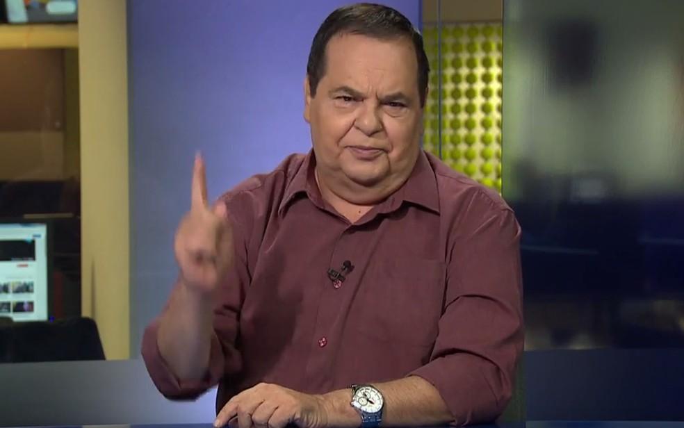 O jornalista Roberto Avallone — Foto: Reprodução/TV Globo