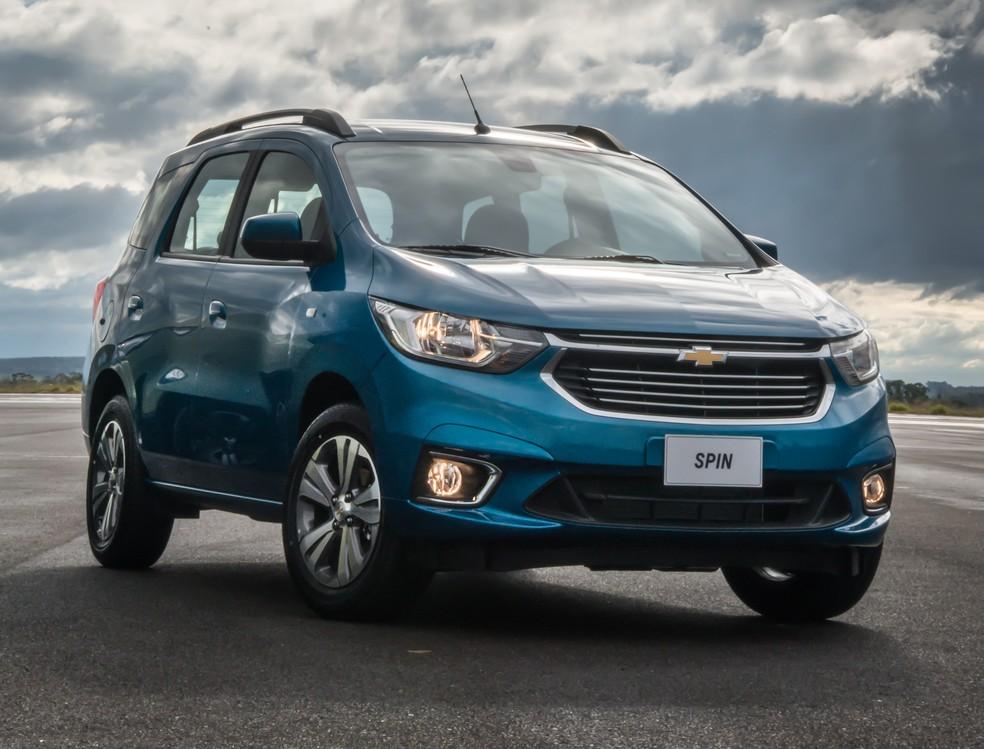 Chevrolet Spin LTZ 2019 — Foto: Chevrolet / Divulgação