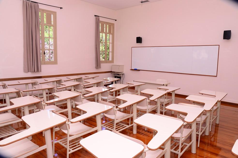 Sala de aula do Colégio Santo André — Foto: Colégio Santo André/Divulgação