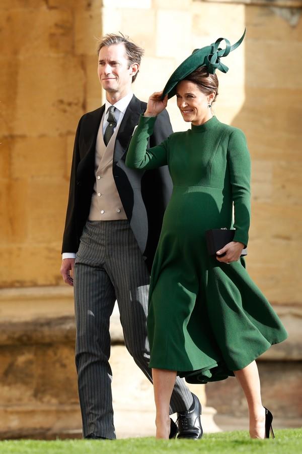 Pippa Middleton e o marido, Jack Brooksbank, no casamento da princesa Eugenie (Foto: Getty Images)