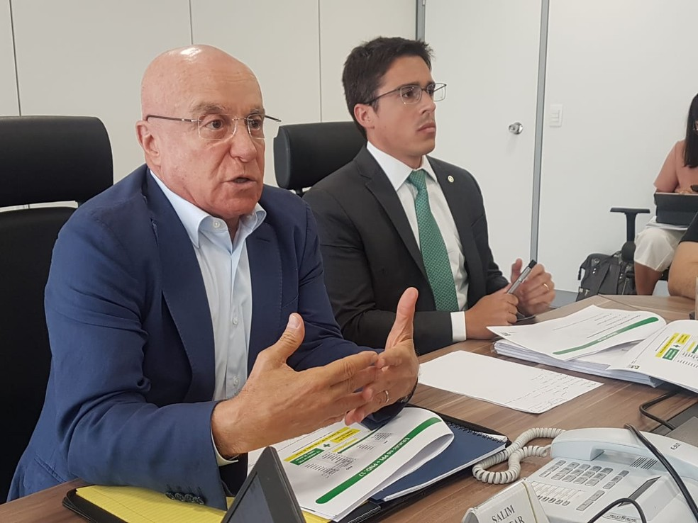 Secretário especial de Desestatização, Salim Mattar, em entrevista coletiva. — Foto: Alexandro Martello/G1