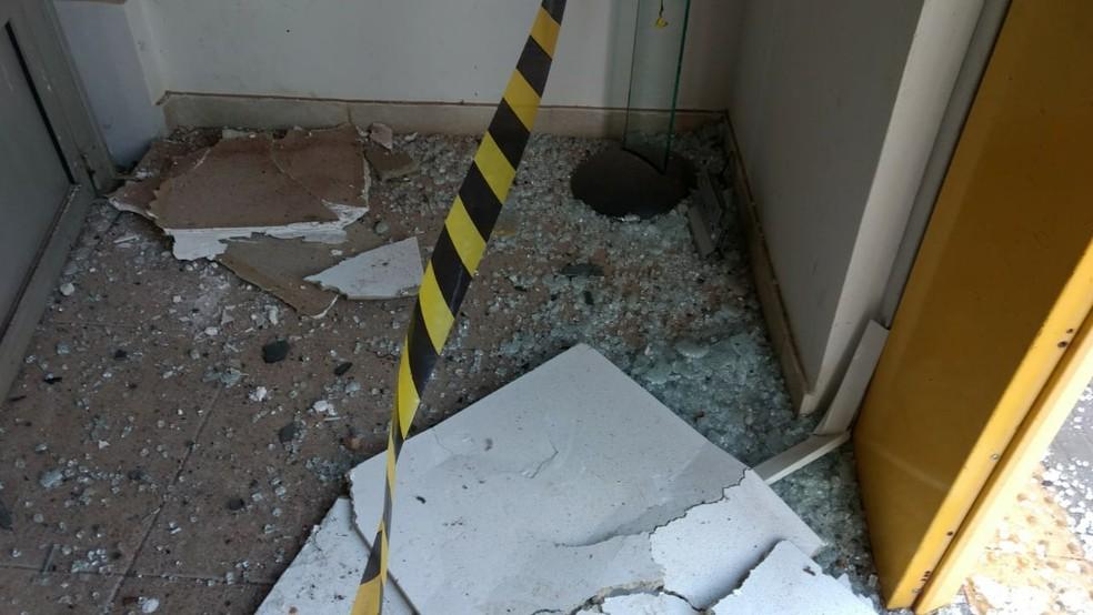 Nenhum suspeito foi preso após ataque a agência bancária em Avanhandava — Foto: Avanews/Divulgação