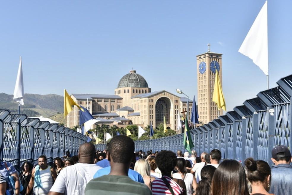 Movimento deve ser intensificado a partir desta quinta-feira no Santuário Nacional de Aparecida — Foto: Thiago Leon/Santuário Nacional