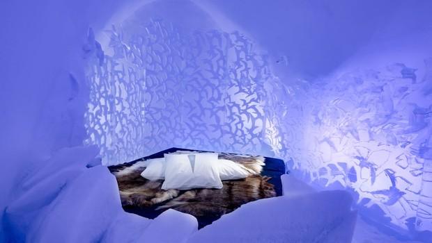Quartos do The Ice Hotel foram criados por diferentes artistas (Foto: Divulgação)