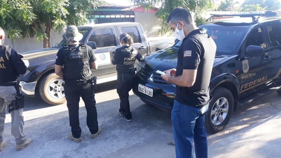 Polícia Federal cumpre mandados de busca e apreensão em Teresina e Timon — Foto: Divulgação/PF