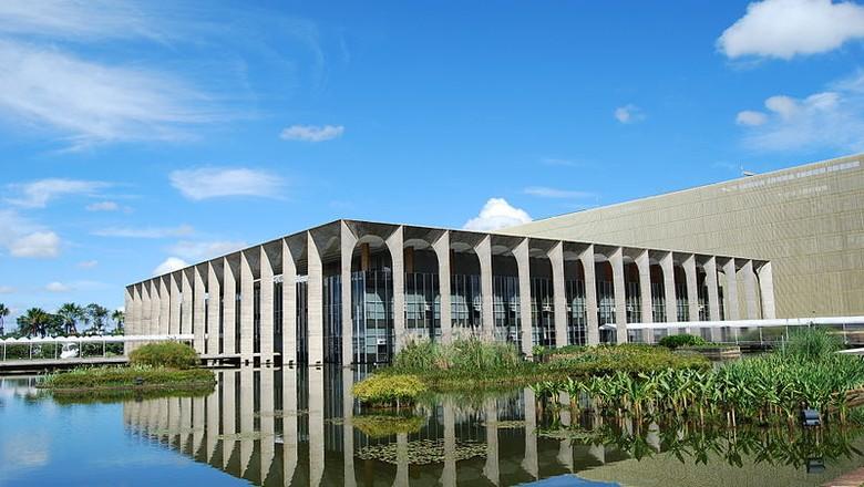 Palácio do Itamaraty, em Brasília (Foto: A C Moraes/Wikimedia Commons)