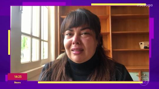 Fabiana Karla chora pela morte de Maurício Sherman: 'É como se tivesse perdido um pai'