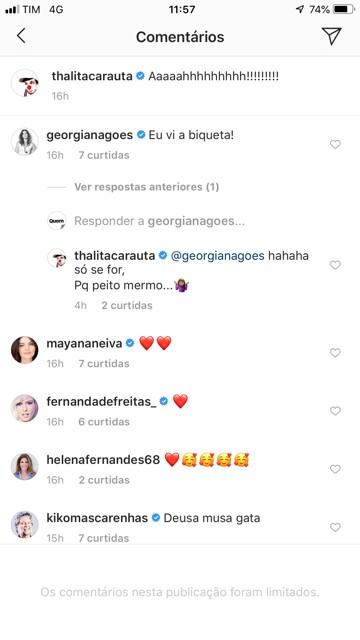 Thalita Carauta ganha elogios dos amigos Kiko Mascarenhas e Georgiana Góes (Foto: Reprodução/Instagram)