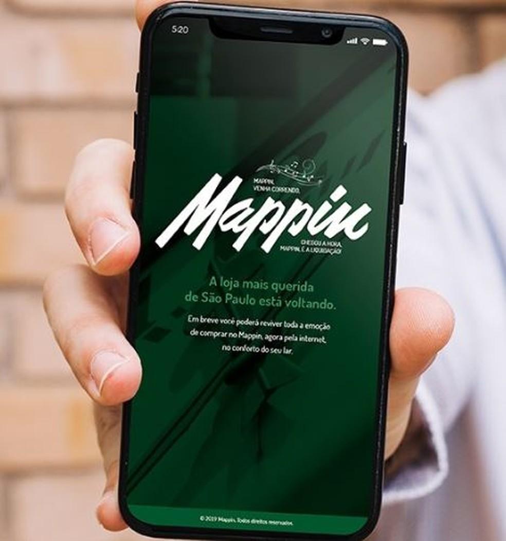 Mappin volta, por enquanto na internet, anunciando grande variedade de produtos — Foto: Divulgação