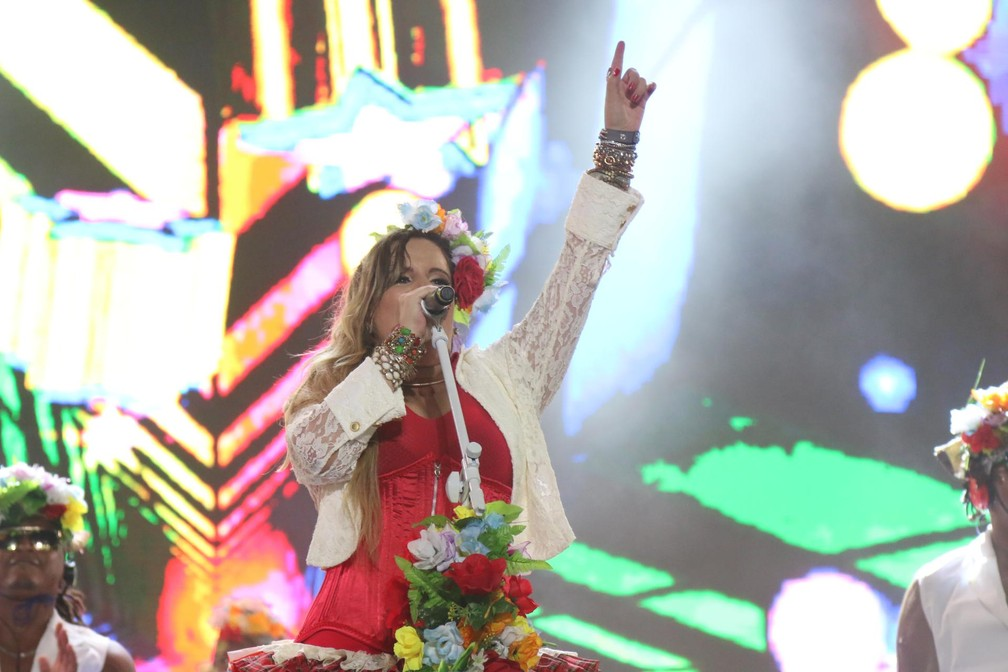 Amanda Santiago no Festival Virada Salvador (Foto: Bruno Concha/Secom)