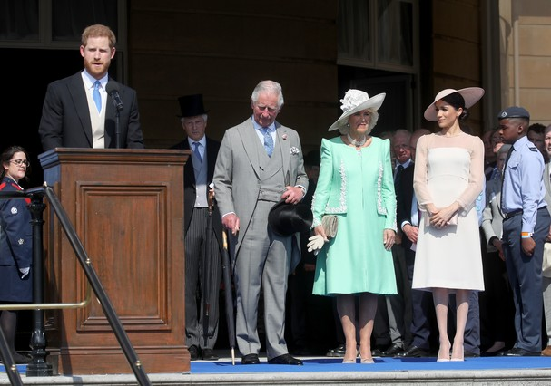 Príncipe Harry, príncipe Charles, Camila e Meghan Markle (Foto: Chris Jackson/Getty Images)