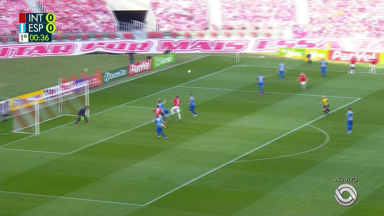 Inter 4 x 0 Esportivo - Galhardo marca aos 40 segundos de jogo