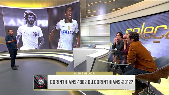 Comentaristas comparam time do Corinthians de 1982 com o de 2012
