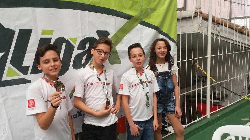 -  Bernardo, Pedro, Gustavo e Marcela  Foto: Marcelo Loures/Arquivo Pessoal