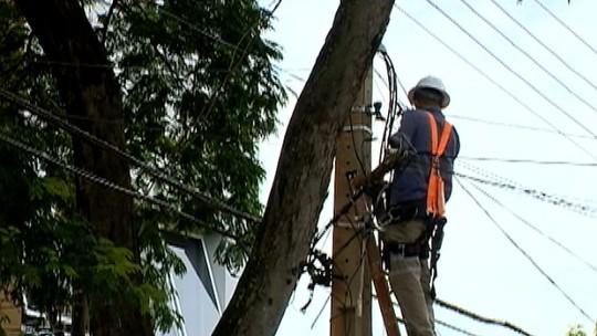 Mais de 24h após temporal, concessionária ainda registra 250 ocorrências de falta de energia na região de Presidente Prudente