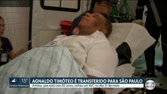 Cantor Agnaldo Timóteo é transferido de Salvador para Hospital das Clínicas, na capital