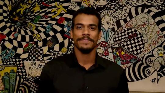 Marcello Melo Jr. ensina passinho de funk nos bastidores do 'Dança dos Famosos'