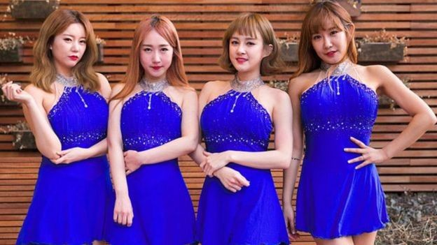 Banda pop sul coreana SixBomb (Foto: GETTY IMAGES via BBC)