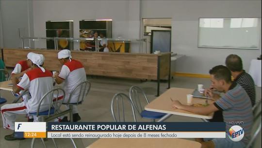 Com almoço a R$ 4, restaurante popular volta a funcionar em Alfenas, MG