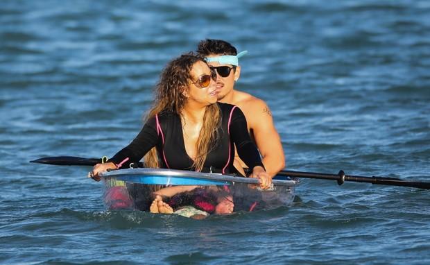 Mariah Carey e Bryan Tanaka (Foto: BackGrid)