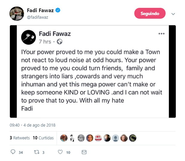 Fadi Fawaz, namorado de George Michael, faz supostos posts ressentidos na web (Foto: Reprodução)