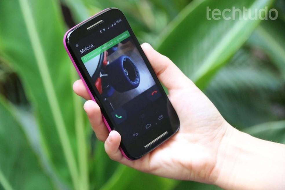 Saiba quem está te ligando mesmo já em outra chamada com o WhatsApp — Foto: Carol Danelli/TechTudo