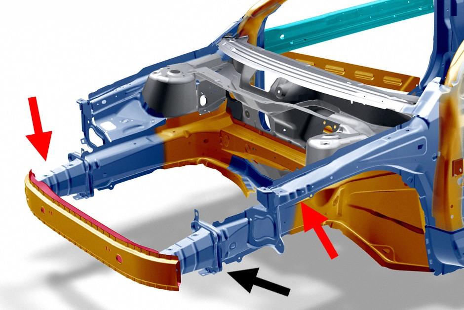 """Crash box é uma peça de """"sacrifício"""", absorvendo energia de impactos para poupar a estrutura do monobloco. É de fácil substituição (Foto: Divulgação/Volvo)"""