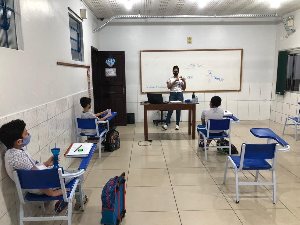 Maioria das instituições particulares iniciou as aulas de 2021 ainda em janeiro — Foto: Arquivo pessoal