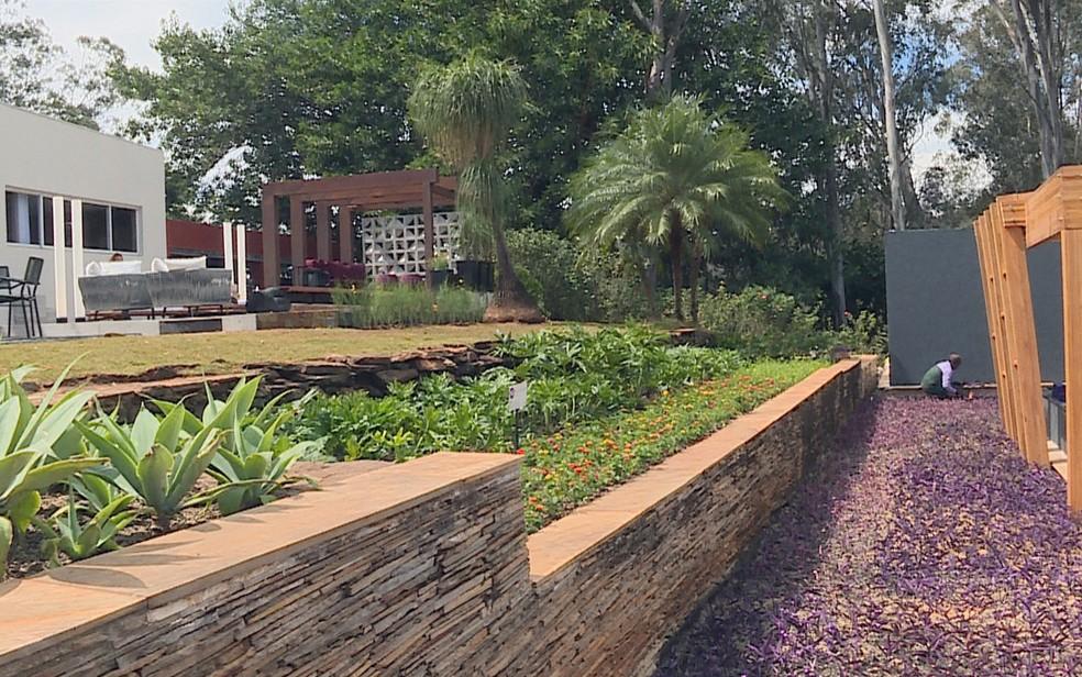 Jardins da Casa Cor, em Belo Horizonte — Foto: Reprodução/TV Globo