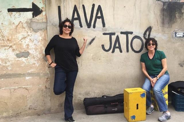 Adriana Dutra e Malu de Martino, diretoras da série documental 'Transgente', do Canal Brasil (Foto: Arquivo pessoal)