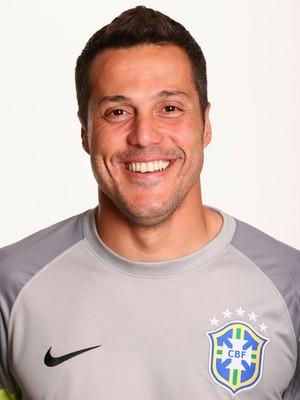FOTO CRACHÁ Seleção brasileira - Julio Cesar (Foto: Agência Getty Images)