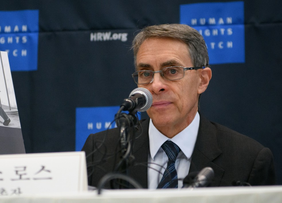 Diretor executivo da Human Rights Watch, Kenneth Roth — Foto: Ed Jones / AFP
