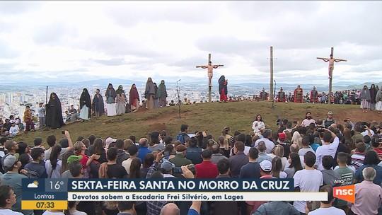 Sexta-feira Santa é marcada por devoção e celebrações no Morro da Cruz em Lages