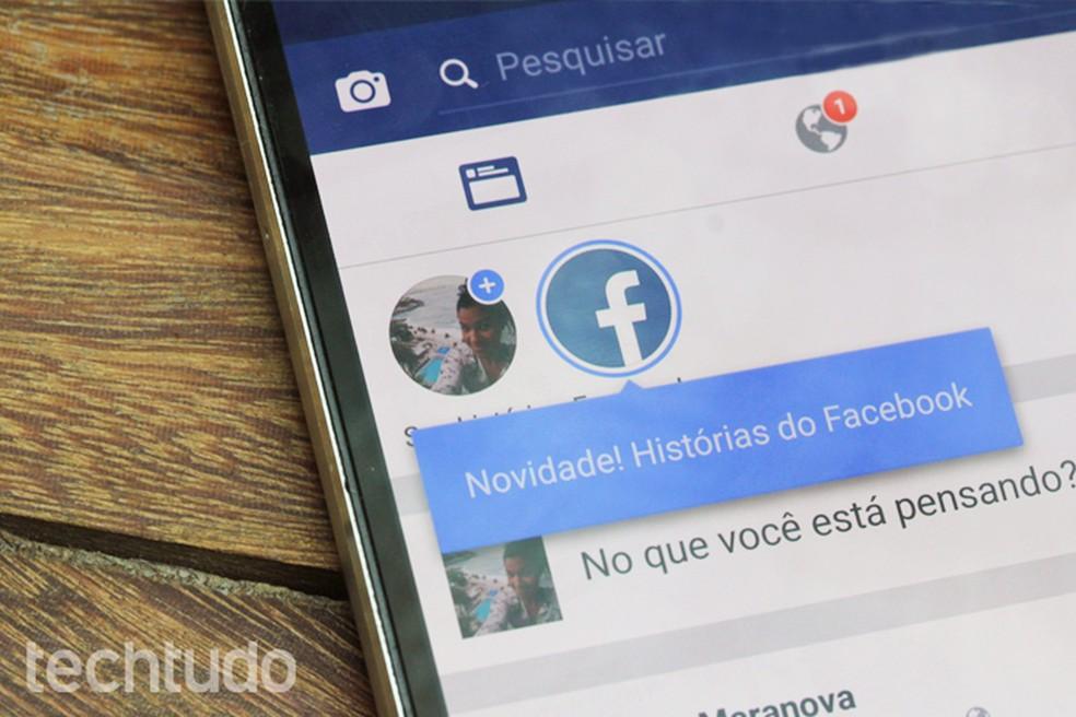 Facebook permite remover reações a stories através das configurações do perfil — Foto: Carolina Ochsendorf/TechTudo