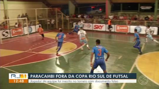 Paracambi é desclassificada da Copa Rio Sul de Futsal