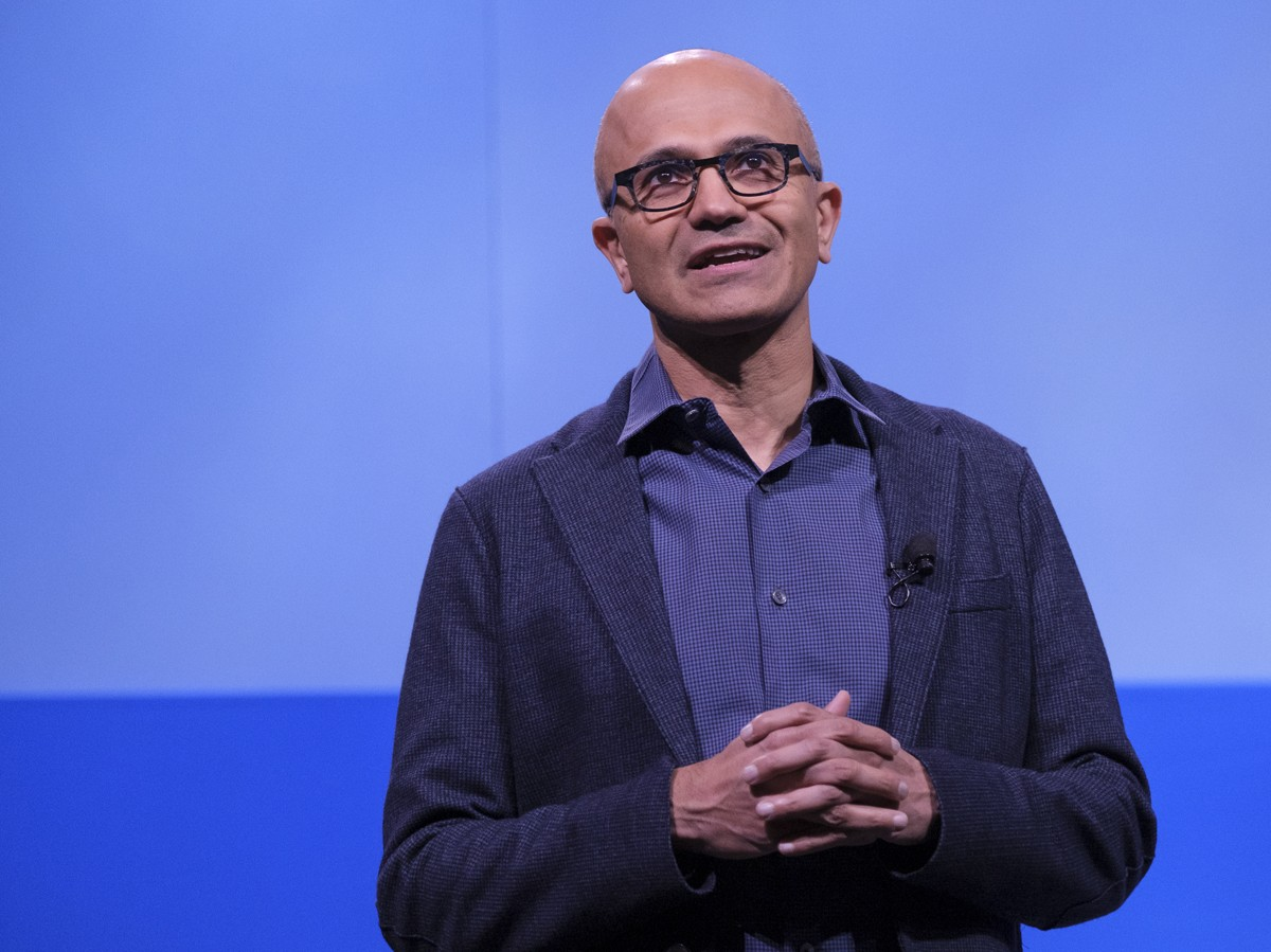 BELLEVUE, WA - NOVEMBER 28: Microsoft CEO Satya Nadella speaks during the Microsoft Annual Shareholders Meeting at the Meydenbauer Center on November 28, 2018 in Bellevue, Washington. Microsoft recently surpassed Apple, Inc. to become the world's most val (Foto: Getty Images)