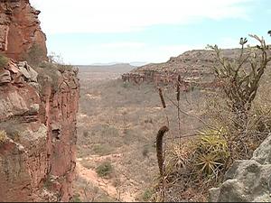 Parque Nacional do Catimbau em Buíque, no Agreste de Pernambuco. (Foto: Reprodução / TV Asa Branca)