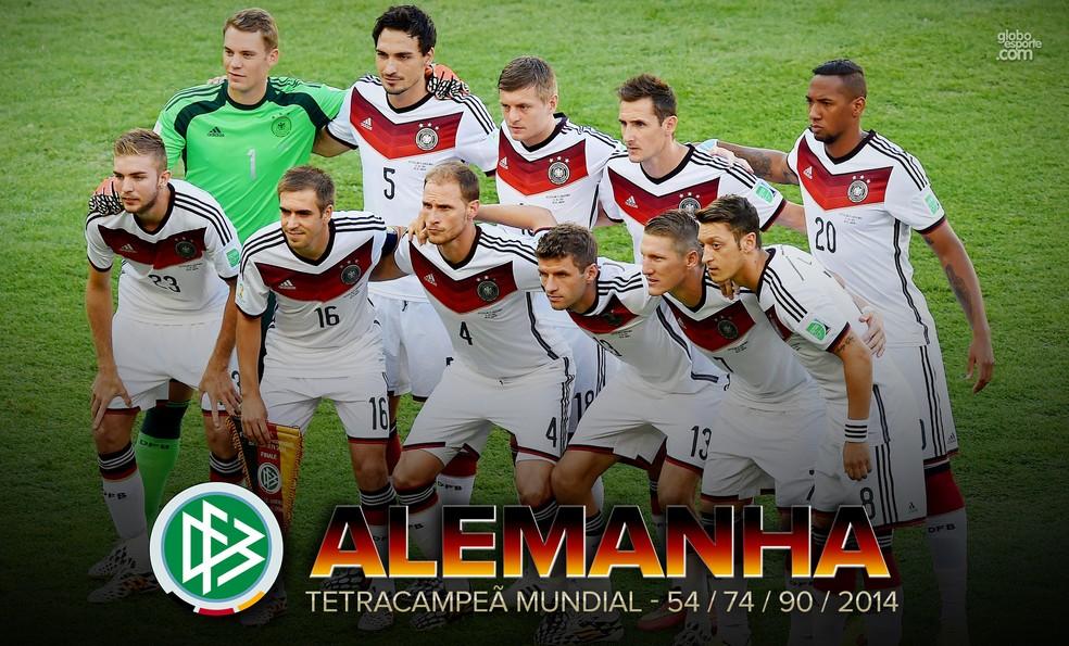 Alemanha teve média de idade inferior a 26 anos na Copa de 2014 (Foto: Infoesporte)