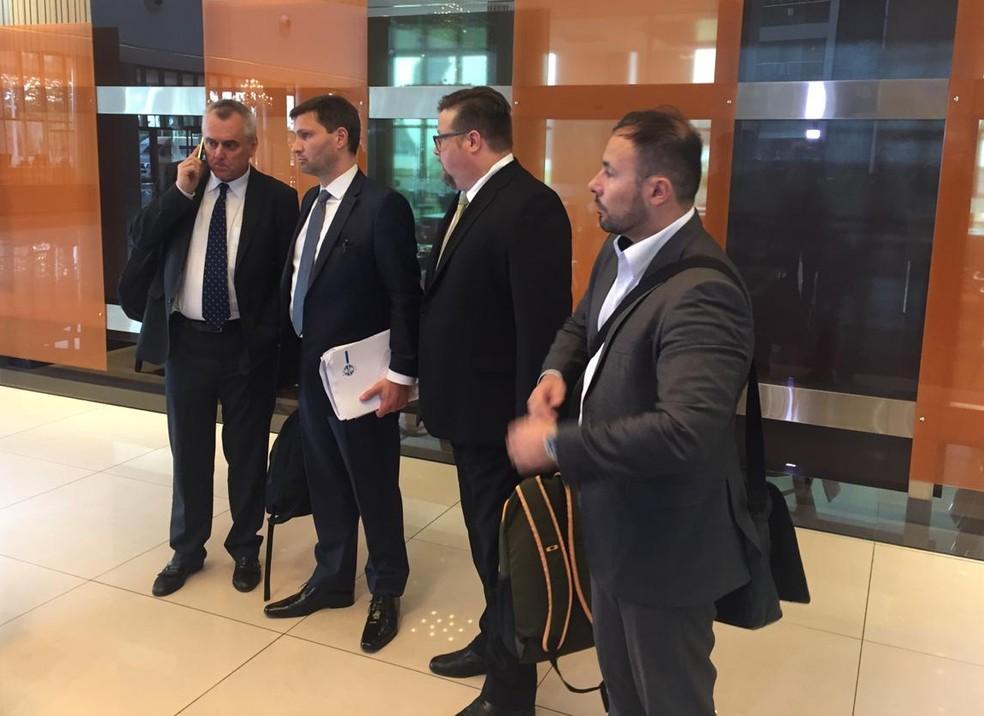 Advogados do Grêmio foram ao Paraguai na última sexta-feira — Foto: Fernando Becker